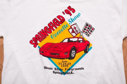 Vintage 90s Corvette Show T-Shirt, Springfield, Sports Car