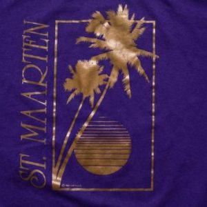 Vintage 80s St. Maarten Island Tourist T-Shirt, ©1987 Airwaves