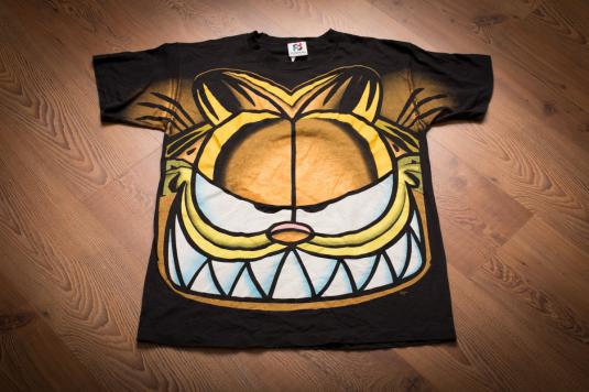 Vintage 90s Garfield the Cat T-Shirt, All Over Full Print