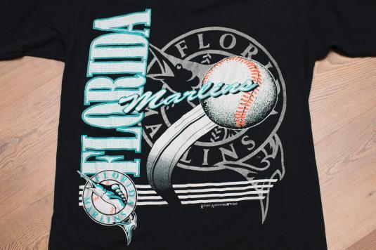 Vintage 90s Florida Marlins Logo T-Shirt, 1993 Inaugural Year