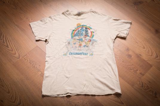 Vintage 70s/80s ChicagoFest T-Shirt, Chicago Music Festival