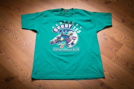 Vintage 90s 120th Kentucky Derby 1994 Horse Race T-Shirt