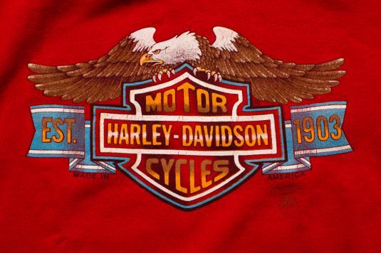 Vintage 80s 3D Emblem Harley-Davidson/Eagle Sweatshirt, 1986