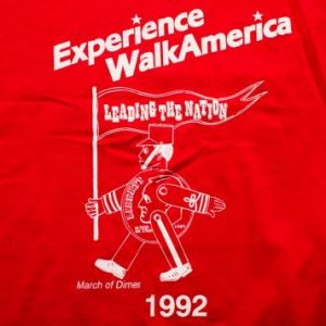 1992 Walk America T-Shirt, Kmart, March of Dimes Toy Soldier