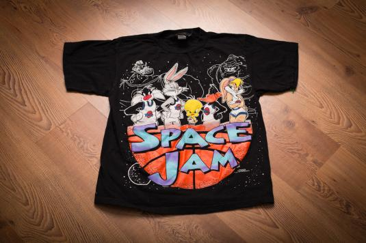 Vintage 90s Space Jam Looney Tunes Basketball Movie T-Shirt