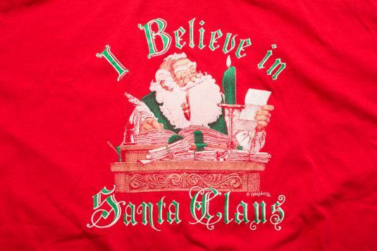 "80s ""I Believe in Santa Claus"" T-Shirt, Naughty & Nice List"