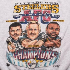 Pittsburgh Steelers Caricature Sweatshirt Woodson Bam Morris