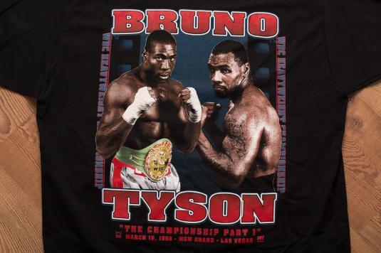 Vintage 90s Mike Tyson vs. Frank Bruno 1996 Boxing T-Shirt