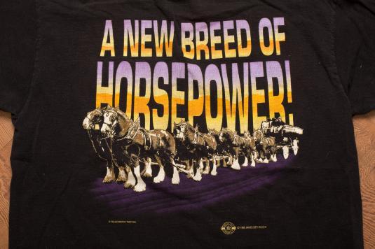 Vintage 1995 Ken Schrader Bud King of Beers T-Shirt