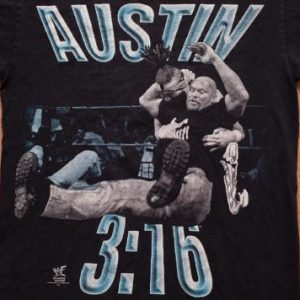 Stone Cold Steve Austin 3:16 T-Shirt, WWF Wrestling, 1990s