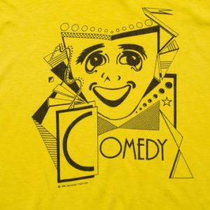 Vintage 80s Comedy & Tragedy Masks T-Shirt, Hanes 50/50