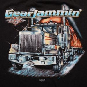 Vintage 80s 3D Emblem Truckers Only Gearjammin' T-Shirt