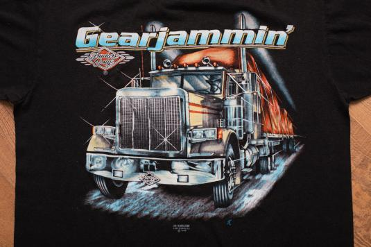 Vintage 80s 3D Emblem Truckers Only Gearjammin' T-Shirt