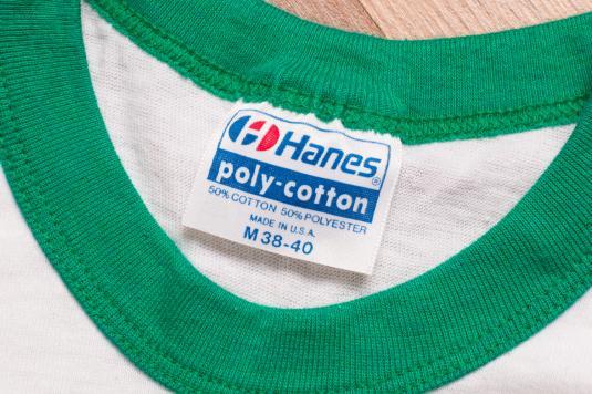 Vintage 80s Boston Celtics Ringer T-Shirt, 1984 Champions
