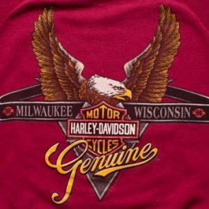 Harley-Davidson Logo w/Eagle Raglan Sweatshirt, Vintage 90s