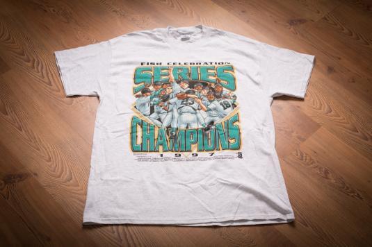 Vintage 90s Florida Marlins 1997 MLB Champions T-Shirt