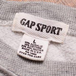 Gap Sport Crewneck Sweatshirt Lightweight Raglan Made in USA
