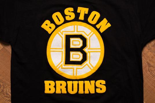 1980s Boston Bruins Logo T-Shirt, Starter, 3D Puffy Print
