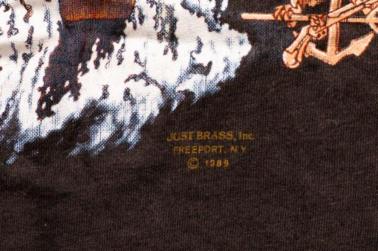 Rare 1989 US Navy Seals 3D Emblem T-Shirt Frogman Graphic