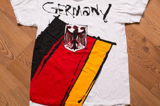 Germany 1994 FIFA World Cup T-Shirt, Soccer Team, Flag Crest