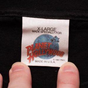 Planet Hollywood V T-Shirt, Fifth Anniversary, 5th, 1996