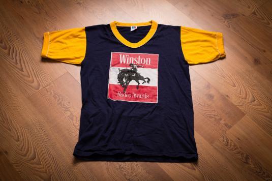 Vintage 70s-80s Winston Rodeo Awards Ringer V-Neck T-Shirt