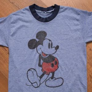 Mickey Mouse Blue Ringer T-Shirt Vintage 1970s-1980s, Disney