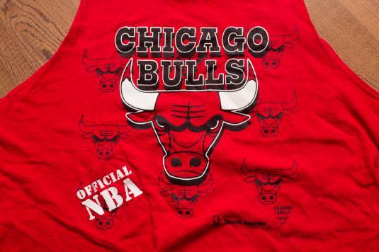 Vintage 90s Chicago Bulls Logo Tanktop, Jordan Era Shirt