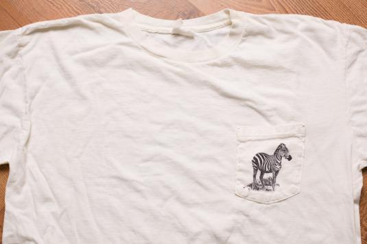 1980s Banana Republic Zebra Pocket T-Shirt, African Safari