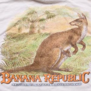 1980s Banana Republic Kangaroo Pocket T-Shirt, Graphic Tee