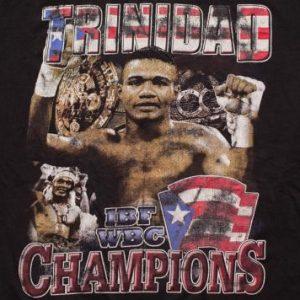 Vintage Felix Tito Trinidad T-shirt IBF WBC Boxing Champion