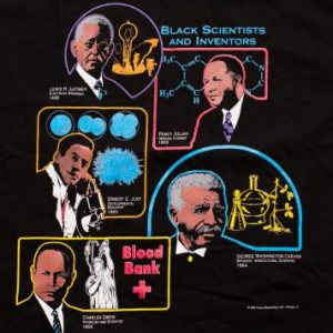 NWT Black History Month T-Shirt, Scientists & Inventors, 90s