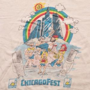 Vintage 70s/80s ChicagoFest T-Shirt, Chicago Music Festival
