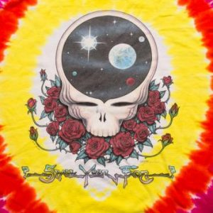 BIG Grateful Dead Space Your Face Tie Dye T-Shirt 2XL/XL Tee