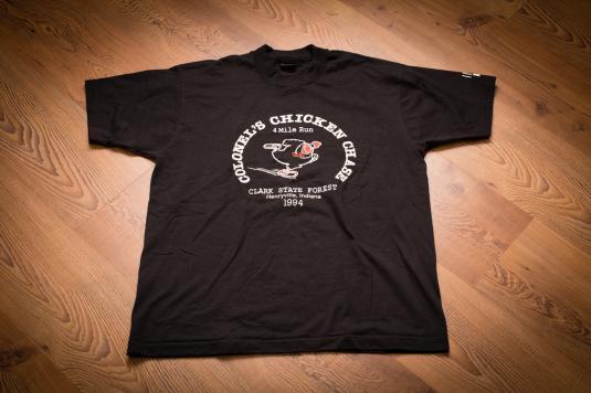 Vintage 90s KFC Colonel's Chicken Chase T-Shirt, Henryville, IN