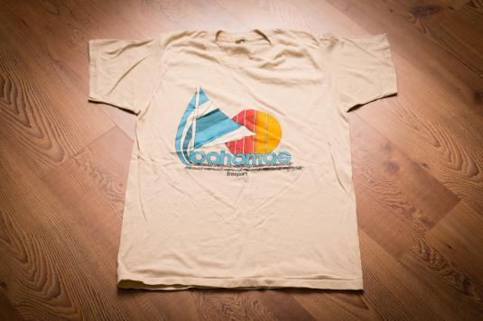 Freeport Bahamas Sailboat T-Shirt, 80s, Super Retro Graphic