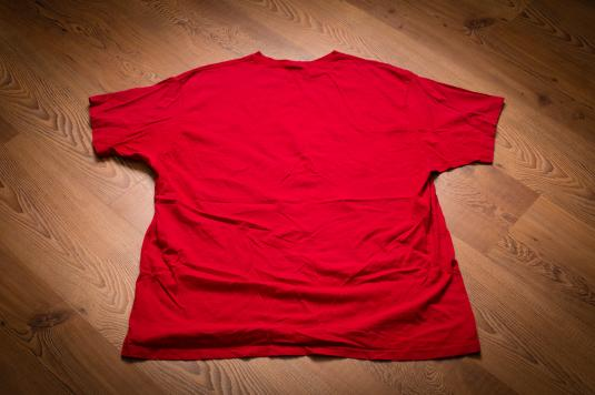 Vintage 90s Ralph Lauren Sport Skiing Polo Bear Red Ski T-Shirt