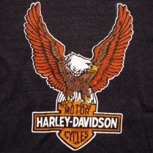 Harley-Davidson Eagle Logo T-Shirt M Mayo Spruce Vintage 80s