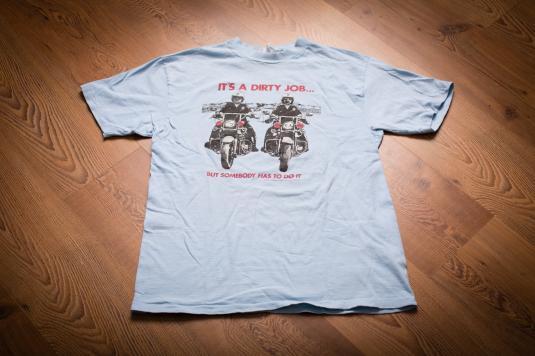 Vintage 80s Police Officers on Kawasaki Motorcycles T-Shirt
