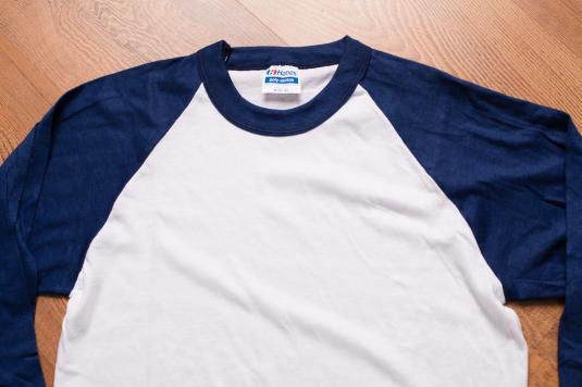 Hanes Poly-Cotton Raglan Jersey, Blank Shirt, Vintage 80s