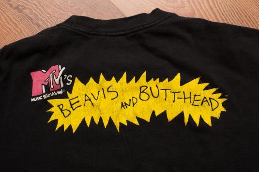 Vintage 90s Beavis & Butthead Metallica T-Shirt MTV Networks