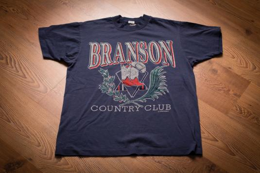 90s Branson Country Club T-Shirt, Cowboy Hat & Boots