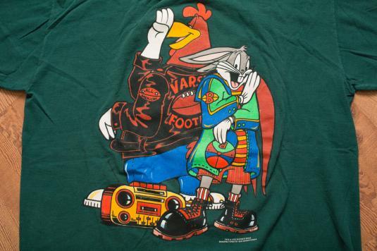 Vintage Looney Tunes Hip Hop T-Shirt, Bugs/Foghorn Cartoon