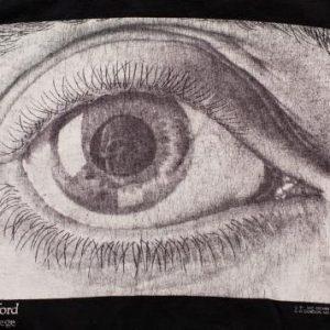 MC Escher Eye T-Shirt Death Skull Pupil Psychedelic Tee 90s