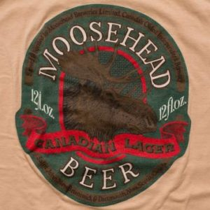 Moosehead Beer T-Shirt, Canadian Lager, Hipster Moose, 80s