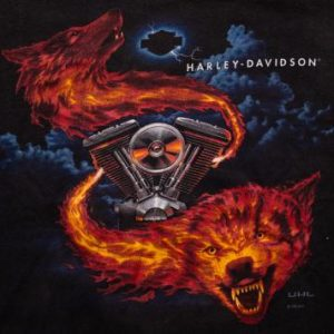 Harley-Davidson Fire Wolves T-Shirt, American Motorcycles