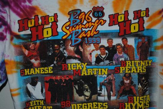 1999 Pop Music Festival Vintage Ricky Martin Concert T-Shirt