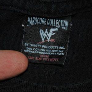 1999 The Rock WWF Professional Hardcore Wrestler T-Shirt