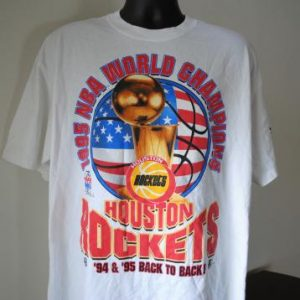 1995 Houston Rockets Vintage Back to Back NBA Champs T-Shirt
