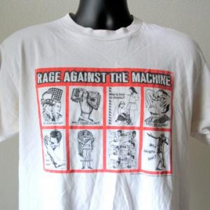 1999 Rage Against The Machine Vintage RATM Rock Band T-Shirt